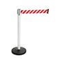 Reflective Belt Stanchions for Workplace Warnings
