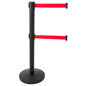 Dual Belt Black Stanchion Receiver, Weighs 21.5 lbs