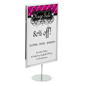 Chrome Portrait 11 x 17 Sign Holder