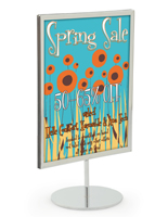 Chrome 8.5 x 11 Tabletop Sign Stand