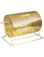 Anodized Brass Raffle Drum