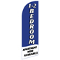 Stock Graphic 1-2 BEDROOM Blue Feather Banner for RE12BEDBL Kits