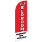 1-2 BEDROOM Red Sail Flag with Pre-Printed Message fits RE12BEDRD Kits