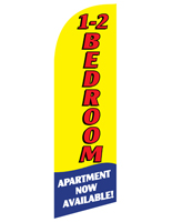 Knitted Polyester 1-2 BEDROOM Yellow Feather Realtor Banner for RE12BEDYL Kits