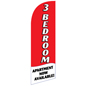 3 BEDROOM Red Feather Flag Banner with Mirrored Image for RE3BEDRD Sets