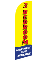 3 BEDROOM Yellow Advertisement Flag with Bold Text for RE3BEDYL Sets