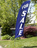 Real estate flags sell with custom messages.