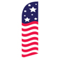 Patriotic Stars & Stripes feather banner for REAMERBAN Fixtures