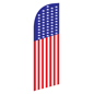 Mirrored graphic patriotic feather flag banner for REAMERFLAG Fixtures
