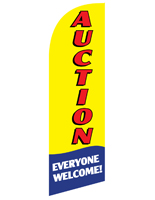 6 Foot Tall AUCTION Advertising Feather Flag for REAUCTYL Displays