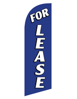 Mirrored FOR LEASE blue realtor flag banner for RELEASEBL Kits