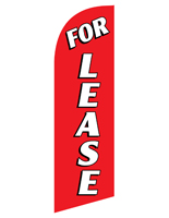 Fade resistant FOR LEASE red message flag for RELEASERD Kits