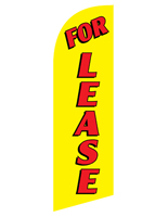 Polyester FOR LEASE yellow advertisement flag for RELEASEYL Kits