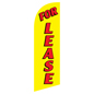 Single-sided FOR LEASE yellow advertisement flag for RELEASEYL Kits