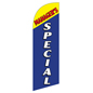 Polyester MANAGERS SPECIAL blue flag banner for REMGRSPBL Kits