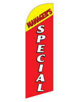 Polyester MANAGERS SPECIAL red marketing flag for REMGRSPRD Kits