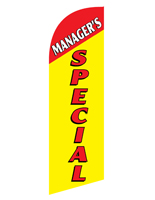 Polyester MANAGERS SPECIAL yellow advertising flag banner for REMGRSPYL Kits