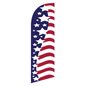 Single-sided American flag feather flag for REPATRIOT Fixtures
