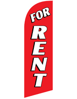 Polyester FOR RENT Red Promotional Flag for RERENTRD Kits
