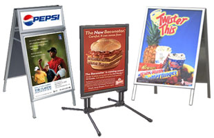 Restaurant Sidewalk Sandwich Board Signs