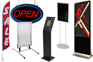 Retail display signage