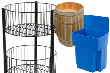 large retail dump bins