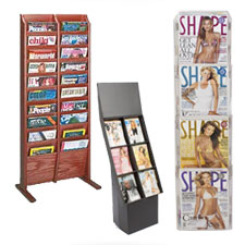 Cardboard, Acrylic and Wood Magazine Racks