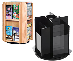 Revolving Countertop Literature Holders
