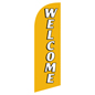 Single-sided WELCOME gold advertising flag banner for REWELGD Kits