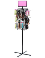 "Rotating Grid Rack with 4"" Pegs for Rackhole Merchandise"