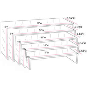 Acrylic Risers For Display U Shaped Countertop Stands