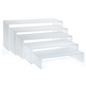 Acrylic Shelf Risers in 5 Different Sizes