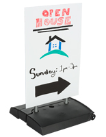 Spring Loaded Sidewalk Sign with Tilt and Roll Base