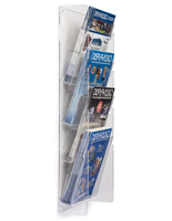 Tiered Plastic Magazine Rack