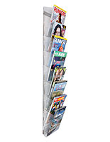 Magazine Wall Rack with Many Different Configurations