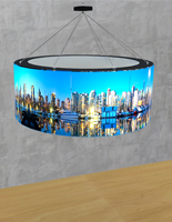 LED 10' hanging round backlit sign