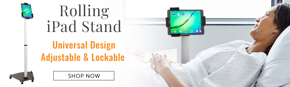 Rolling iPad Stand for hospitals, clinics, and offices
