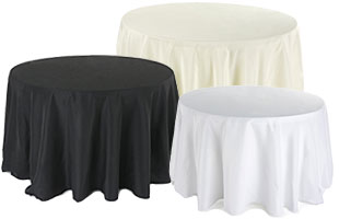 Fluted Covers for Round Tables