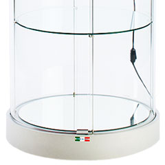 round tower display cases