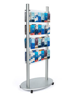 48 pocket adjustable acrylic floor brochure display stand