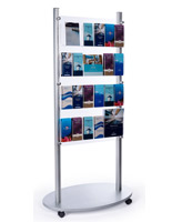 24 pocket adjustable 4-tier floor magazine stand