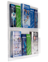 Wall Mounted Magazine Racks with Adjustable Pockets