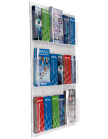 Clear Wall Literature Rack