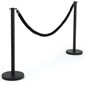 "(2) 39"" Black Queue Stand with Black Rope"