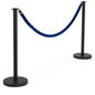 "(2) 39"" Stanchions with Blue Rope"