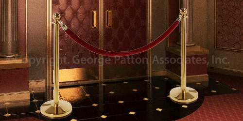 Polished Brass Stanchion Set