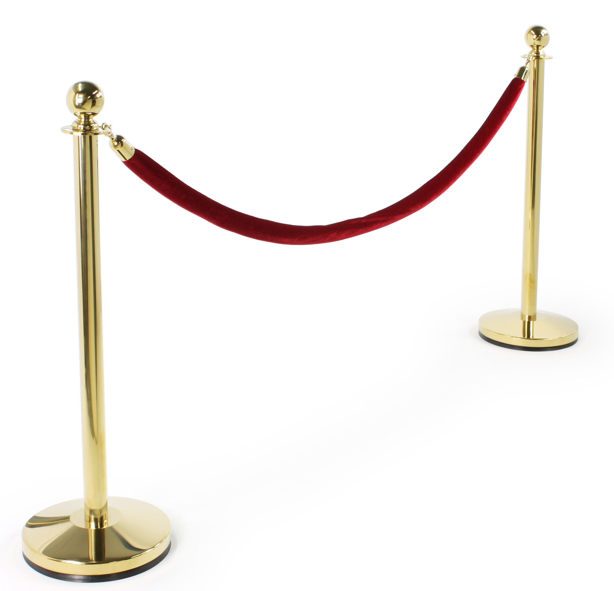 Step and repeat selfie station with red carpet and velvet rope attached to polished stanchions