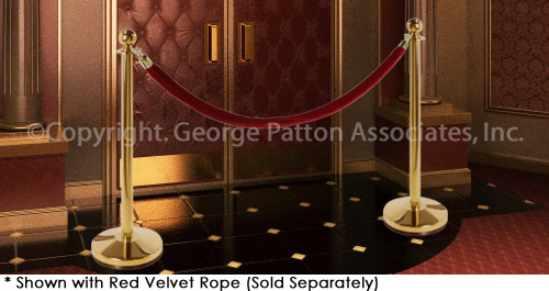 Polished Brass Stanchions