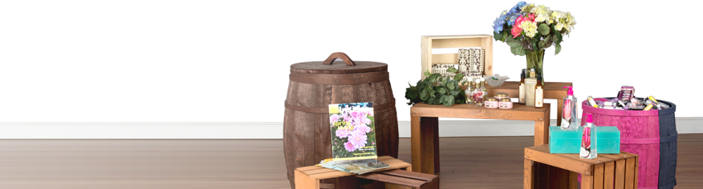 rustic retail displays