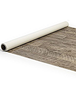10' x 10' trade show flex vinyl flooring roll with rustic wood effect
